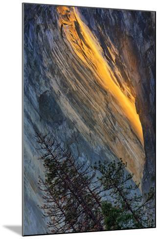 Firefall Abstract, Horsetail Falls, Yosemite National Park-Vincent James-Mounted Photographic Print