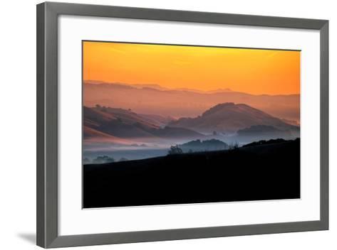 Hills of the Future, Mellow Sun and Hills, Petaluma, Sonoma County-Vincent James-Framed Art Print