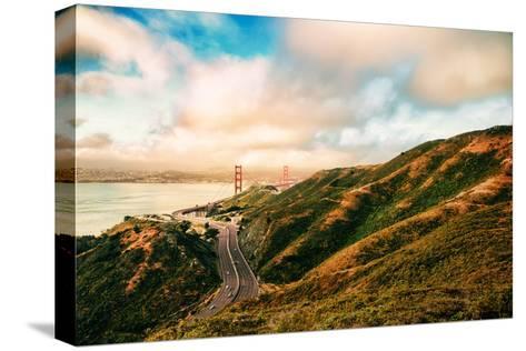 Dreamy Road Into San Francisco, Cloudscape at Golden Gate Bridge-Vincent James-Stretched Canvas Print