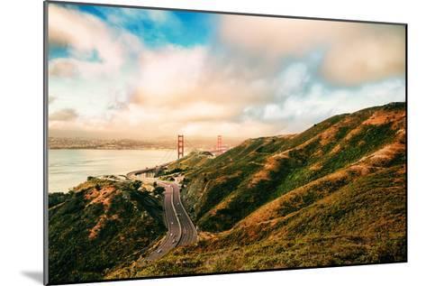 Dreamy Road Into San Francisco, Cloudscape at Golden Gate Bridge-Vincent James-Mounted Photographic Print