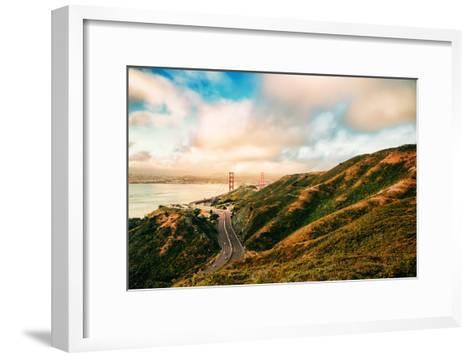 Dreamy Road Into San Francisco, Cloudscape at Golden Gate Bridge-Vincent James-Framed Art Print