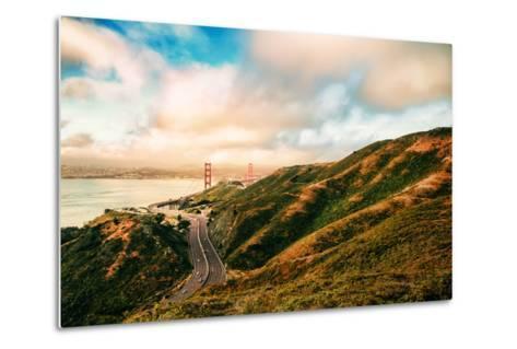 Dreamy Road Into San Francisco, Cloudscape at Golden Gate Bridge-Vincent James-Metal Print