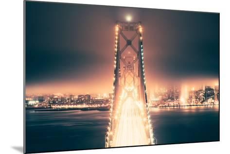 Night Crossing, Bay Bridge, Oakland to San Francisco, California-Vincent James-Mounted Photographic Print