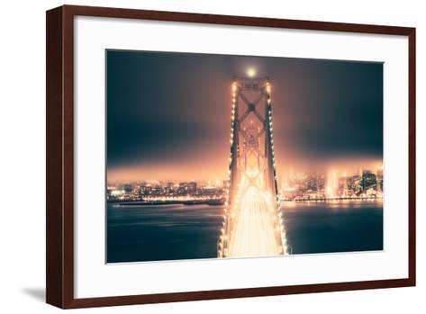 Night Crossing, Bay Bridge, Oakland to San Francisco, California-Vincent James-Framed Art Print