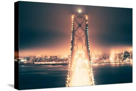 Night Crossing, Bay Bridge, Oakland to San Francisco, California-Vincent James-Stretched Canvas Print