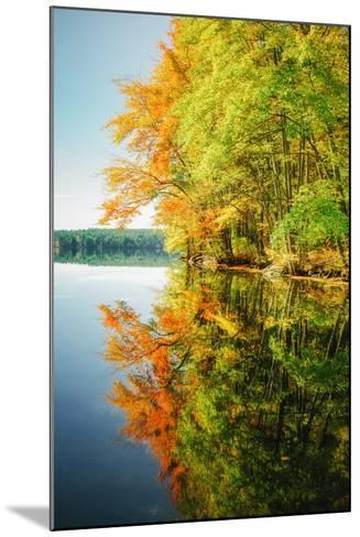 Fall Color Reflections ay Holderness New Hampshire, New England-Vincent James-Mounted Photographic Print
