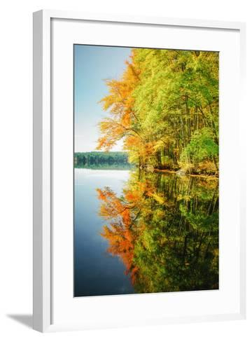 Fall Color Reflections ay Holderness New Hampshire, New England-Vincent James-Framed Art Print
