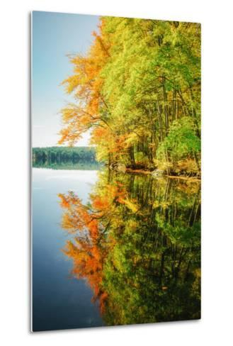Fall Color Reflections ay Holderness New Hampshire, New England-Vincent James-Metal Print