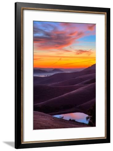 Dark and Moody Sunrise, Petaluma Sonoma County, Bay Area-Vincent James-Framed Art Print
