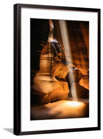Beneath The Earth, Antelope Canyon, Southwest US, Page, Arizona, Navajo-Vincent James-Framed Art Print