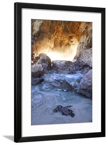 Coastal Light Cove, Big Sur, Pacific Ocean, California-Vincent James-Framed Art Print