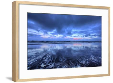 Early Morning Beach Design, Cannon Beach, Oregon Coast-Vincent James-Framed Art Print