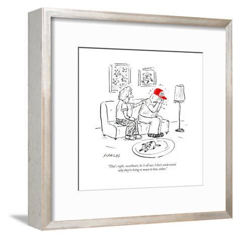 """""""That's right, sweetheart, let it all out. I don't understand why they're ?"""" - Cartoon-David Sipress-Framed Art Print"""