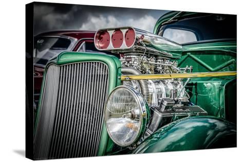 Classic American Automobile-David Challinor-Stretched Canvas Print