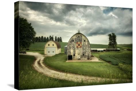Farmland with Barns in USA--Stretched Canvas Print