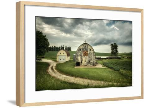 Farmland with Barns in USA--Framed Art Print