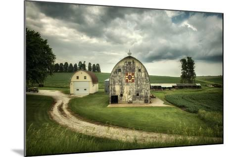 Farmland with Barns in USA--Mounted Photographic Print