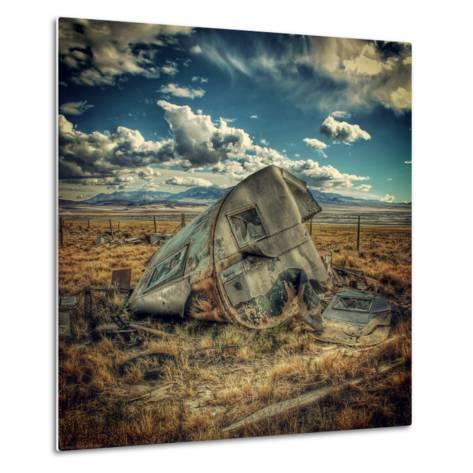 Abandoned Decaying Caravan-Florian Raymann-Metal Print