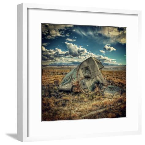 Abandoned Decaying Caravan-Florian Raymann-Framed Art Print