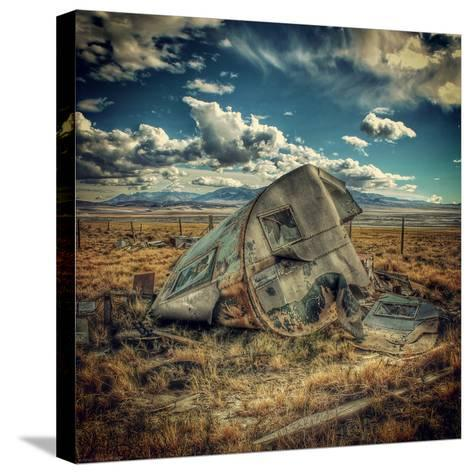 Abandoned Decaying Caravan-Florian Raymann-Stretched Canvas Print