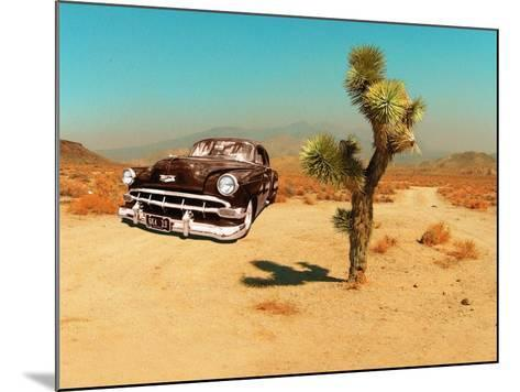 Edited Image of Classic Car in Amrican Desert-Salvatore Elia-Mounted Photographic Print