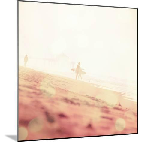 Beach Scene with Surfer in USA-Myan Soffia-Mounted Photographic Print