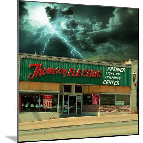 Vintage Street Signage in America for Electrical Shop-Salvatore Elia-Mounted Photographic Print