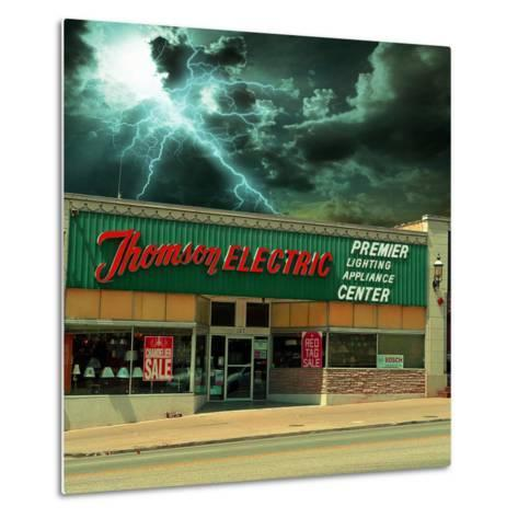 Vintage Street Signage in America for Electrical Shop-Salvatore Elia-Metal Print