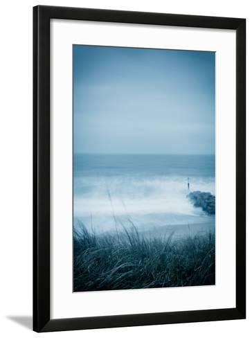 Winter Seascape-David Baker-Framed Art Print