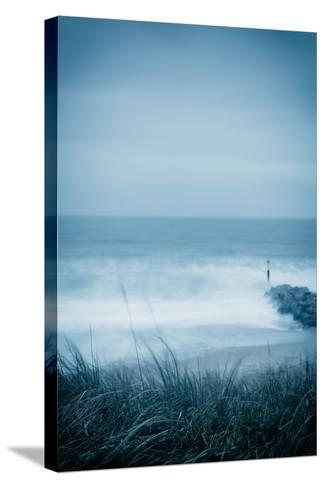 Winter Seascape-David Baker-Stretched Canvas Print