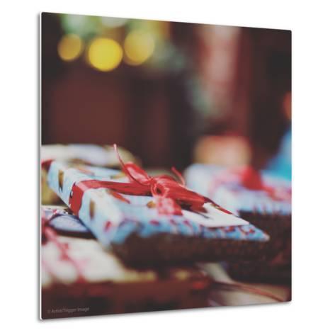 Wrapped Xmas Presents-Tim Kahane-Metal Print