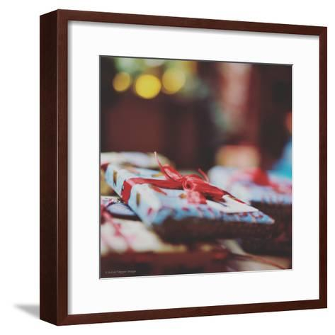 Wrapped Xmas Presents-Tim Kahane-Framed Art Print