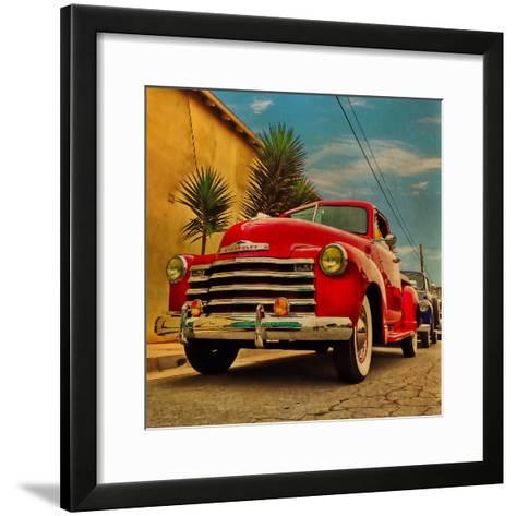 Vintage Classic Truck-Salvatore Elia-Framed Art Print