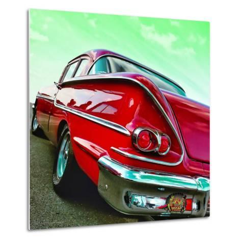 Vintage Car in America Rear View-Salvatore Elia-Metal Print