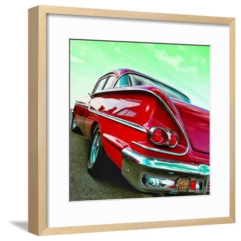 Vintage Car in America Rear View-Salvatore Elia-Framed Art Print