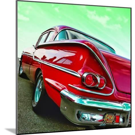 Vintage Car in America Rear View-Salvatore Elia-Mounted Photographic Print