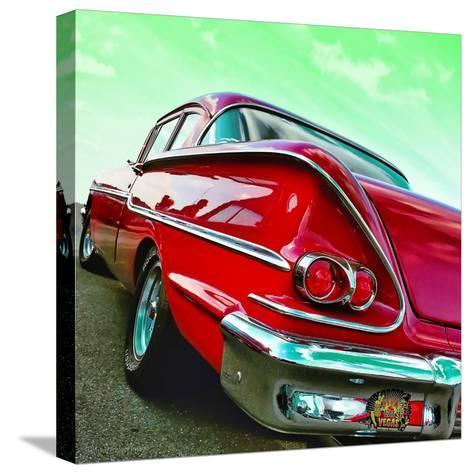 Vintage Car in America Rear View-Salvatore Elia-Stretched Canvas Print