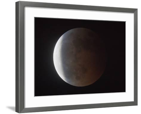 Partial Phase of a Total Lunar Eclipse-Guillermo Gonzalez-Framed Art Print