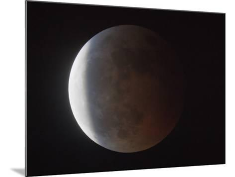 Partial Phase of a Total Lunar Eclipse-Guillermo Gonzalez-Mounted Photographic Print