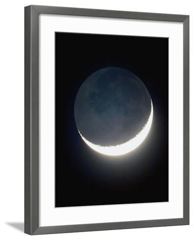 Waxing Crescent Moon About 3 Days Old, with Sunlit Area-Guillermo Gonzalez-Framed Art Print