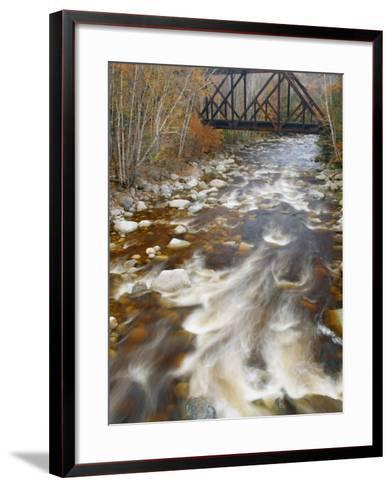 Trestle over the Saco River. White Mountains, New Hampshire-Gustav W. Verderber-Framed Art Print