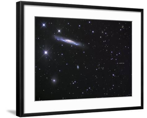 Ngc 3079 and the Lensed Quasar-Robert Gendler-Framed Art Print