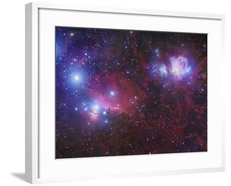 The Orion Deepfield Region, Showing the Orion Molecular Cloud and the Orion Ob1 Association-Robert Gendler-Framed Art Print