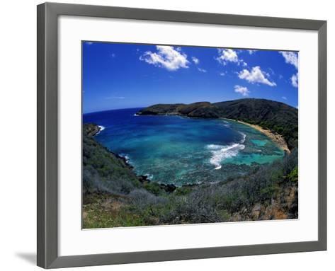 Hanauma Bay Is One of Oahu's Most Popular Snorkeling Sites, Hawaii, USA-David Fleetham-Framed Art Print