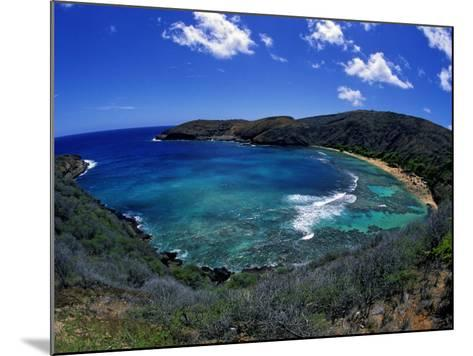 Hanauma Bay Is One of Oahu's Most Popular Snorkeling Sites, Hawaii, USA-David Fleetham-Mounted Photographic Print