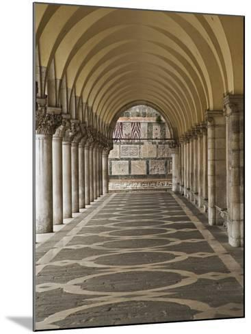 Archway and Columns, Doge's Palace, Piazza San Marco, Venice, Italy-Adam Jones-Mounted Photographic Print