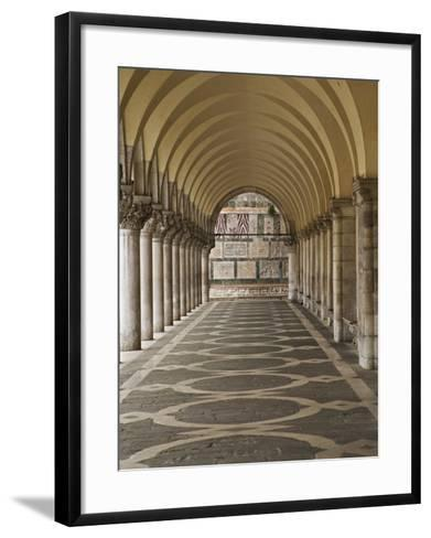 Archway and Columns, Doge's Palace, Piazza San Marco, Venice, Italy-Adam Jones-Framed Art Print