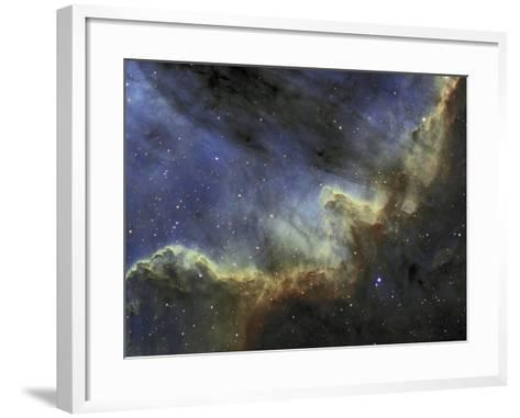 Ngc 7000, the North American Nebula or Cygnus Wall, Emission Line Mapping-Matthew Russell-Framed Art Print