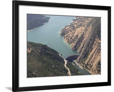 Monticello Dam at the Mouth of Lake Berryessa, California, USA-Marli Miller-Framed Art Print