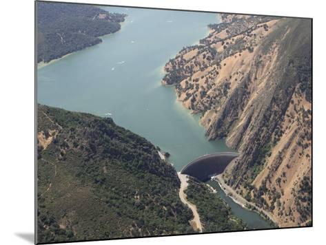 Monticello Dam at the Mouth of Lake Berryessa, California, USA-Marli Miller-Mounted Photographic Print
